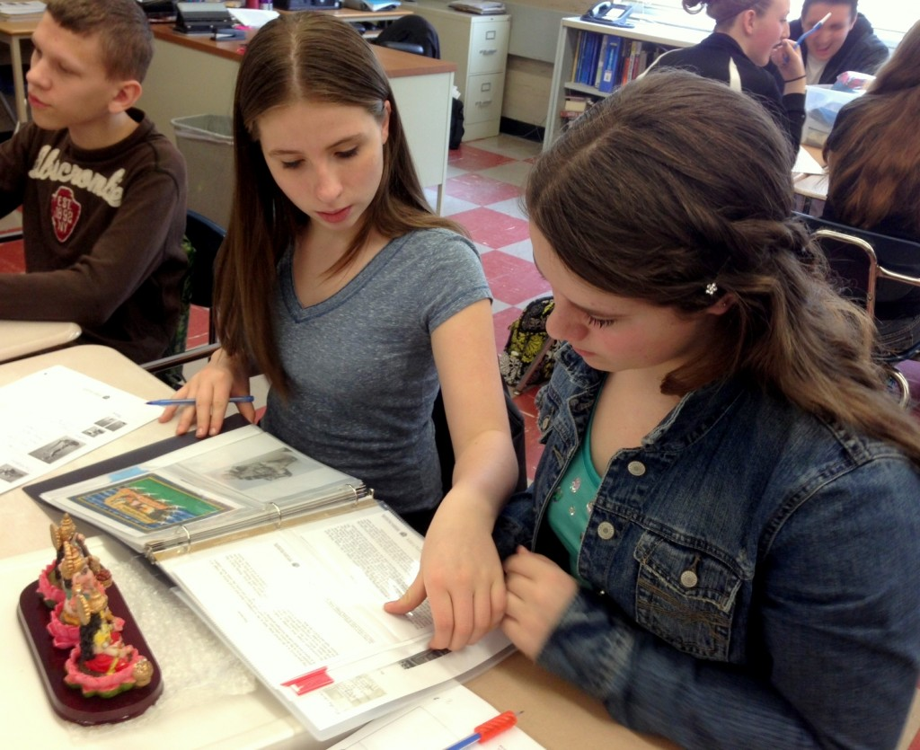 Students used the kits' educational materials to discover new information