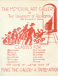 Creative Workshop class flyer circa 1963