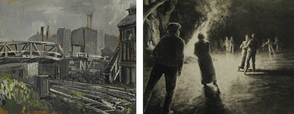 Two works by Roger Essley in Living Memory exhibition