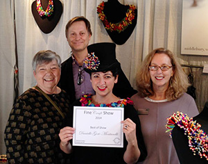 Danielle Gori-Montanelli of Middlebury, VT won the Award of Excellence at the Fine Craft Show