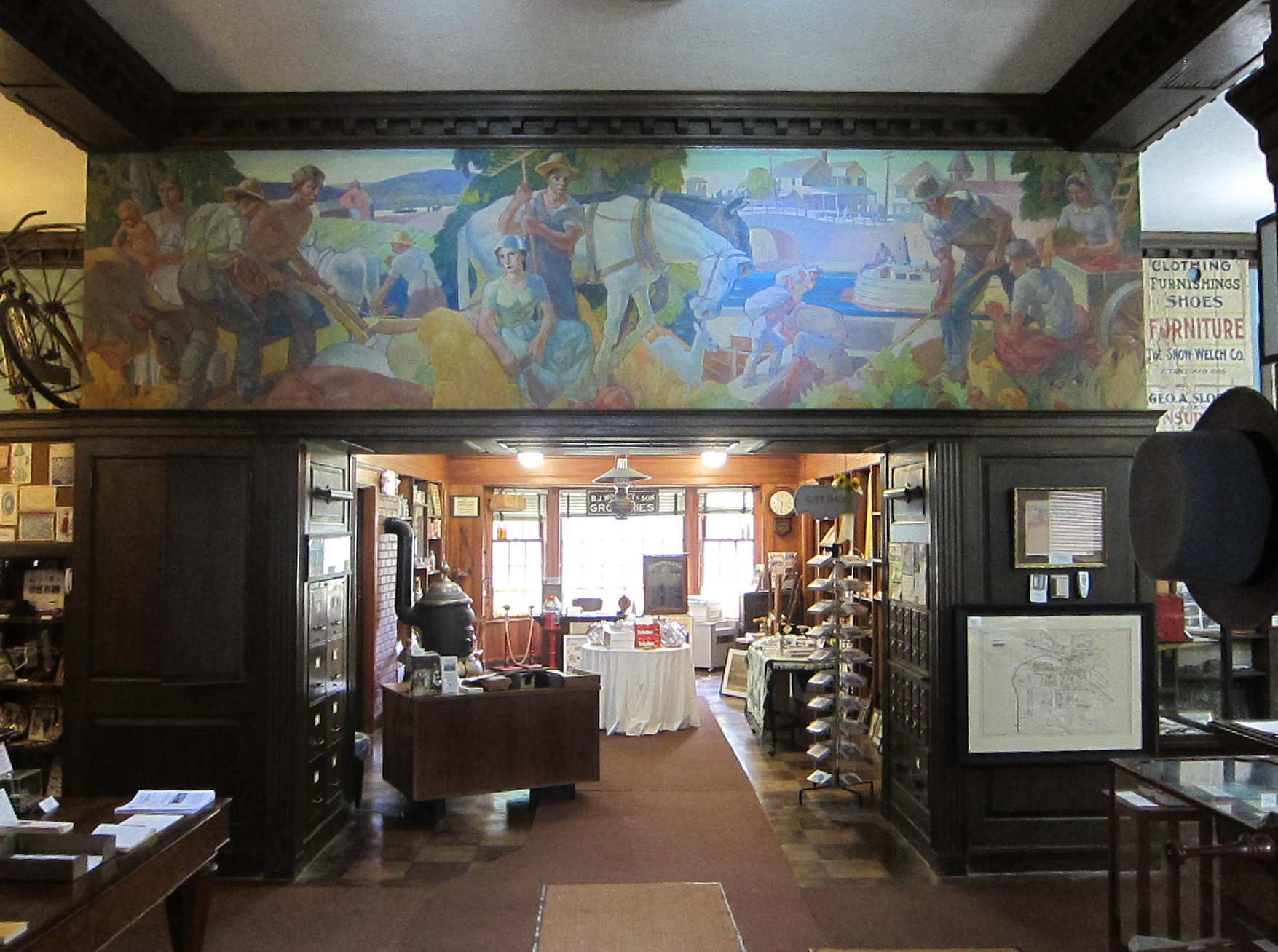 Carl W. Peters mural at the Perinton Historical Society