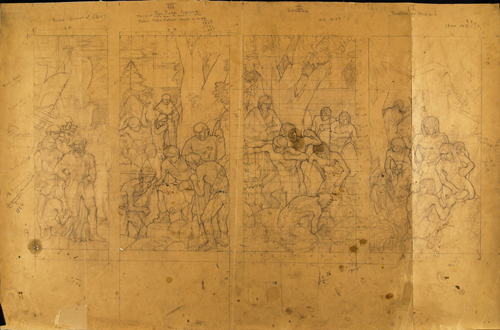 Preparatory Drawings for a Mural