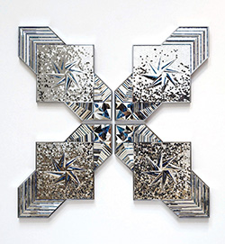 mirrored sculpture by Monir Farmanfarmaian
