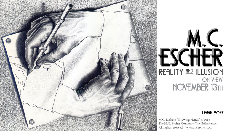 MC Escher: Reality and Illusion opens 11/13