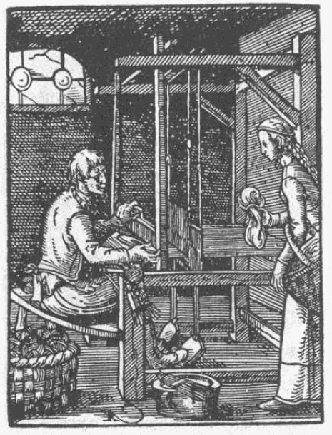 image of weaver from 1568 book
