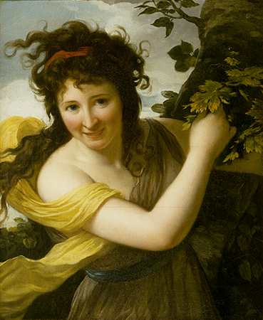 Portrait of a Woman as a Bacchante, probably 1790s