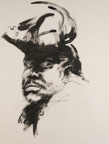portrait of Marcus Garvey by Luvon Sheppard