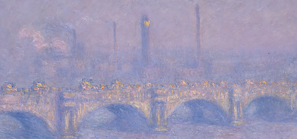 Waterloo Bridge, Veiled Sun 1903 - detail