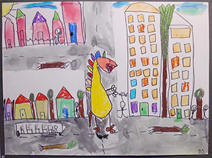 If Dinos Came Back by Ben age 9