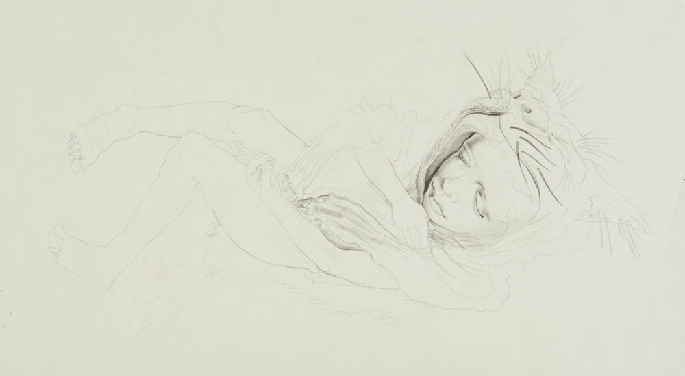 Feral Child (preparatory drawing)