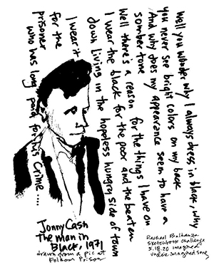 Johnny Cash song prompt