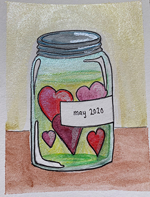 Jar of Hearts - sketchbook challenge