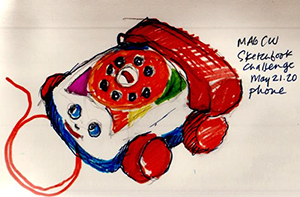 Telephone - sketchbook challenge